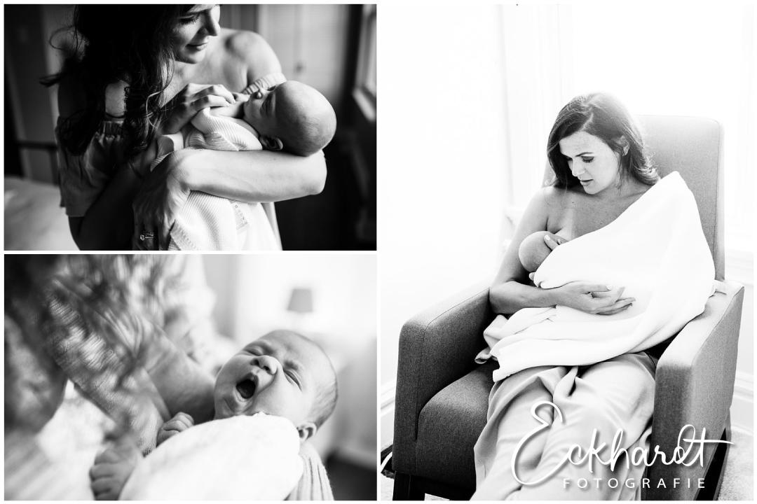 Met fototoestel op visite bij de baby