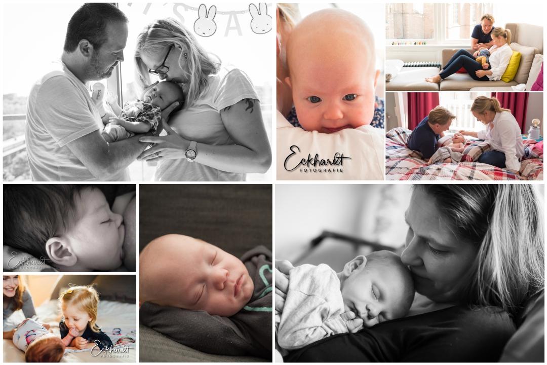 Jaaroverzicht Lifestyle Newborn Fotografie